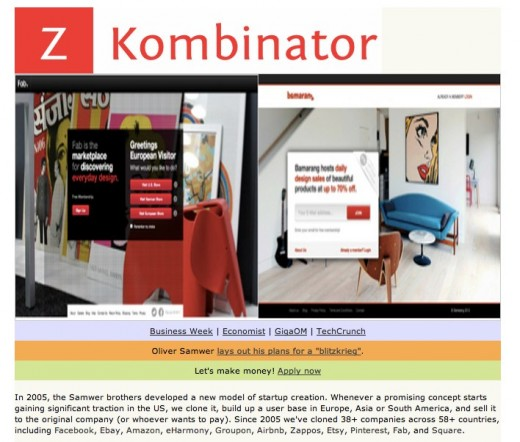 Z Kombinator 520x442 Bring in the clones: Z Kombinator rips off Paul Grahams startup incubator [satire]