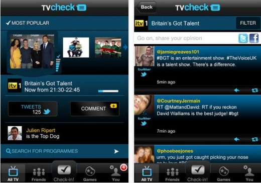 a4 520x364 Orange brings its social TV app TVcheck to second screens across the UK