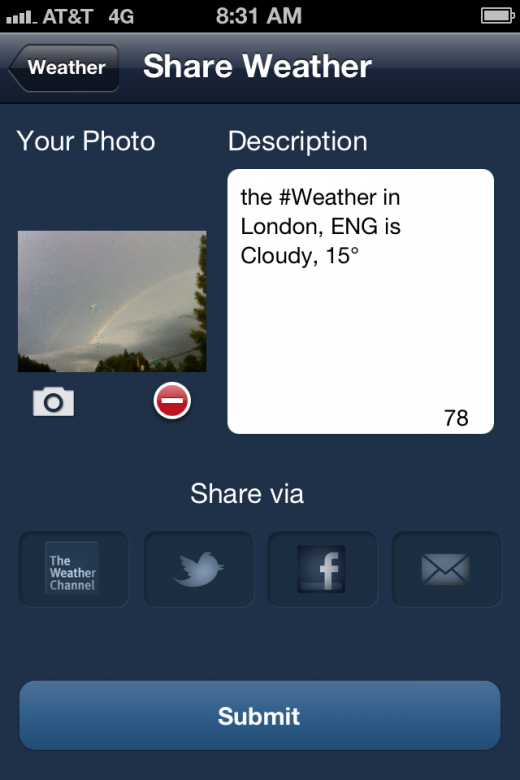 a7 520x780 The Weather Channel launches redesigned iOS app, with new social, local and personal features