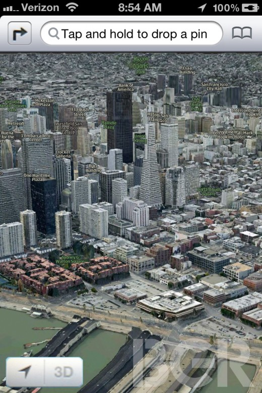 apple maps ios 6 3d summer 520x780 This is what Apples new iOS 6 Maps app is expected to look like