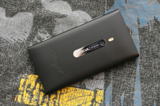 batman nokia lumia 900 limited edition phone 1 520x346 Nokia is launching an exclusive Batman version of its Lumia 900, but you probably cant get one