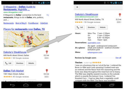 blog post 2 520x377 Google tweaks local search on mobile web to allow speedy flicking between results