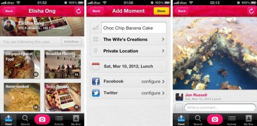 burpplecomb1 520x256 Burpple wants its Path meets Pinterest app to be your personal food journal