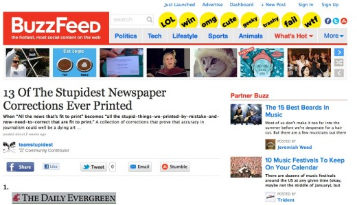 buzzfeed newspapers 520x299 This Week in Media: From Internet Week NY to YouTubes 7th Birthday