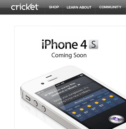 crick Cricket first pre paid US carrier to offer iPhone; on $55/month unlimited plan, starting June 22 [Updated]