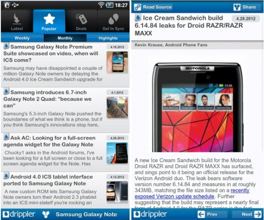 dripplr screenshots 2 520x434 With 1.5 million downloads, Dripplers apps are a must have for Android owners