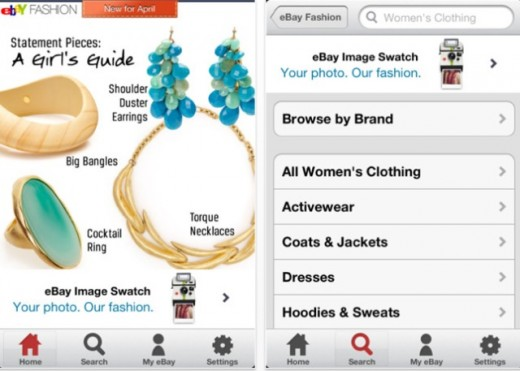 eBay Fashion 2 520x371 eBays UK Fashion app now enables colour and pattern matching from photos