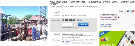 ebay 520x180 Alien inhabited Kansas ghost town up for auction on eBay