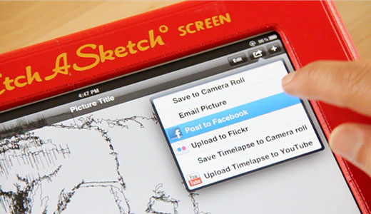 etchersocial Old tech on new: Kickstarter project Etcher brings Etch A Sketch to the iPad