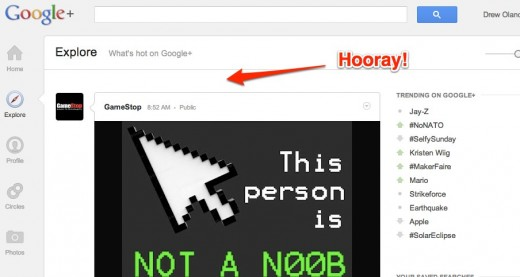 exploregoogleplus 520x277 Google actually listens, removes obnoxious feature from Google+ Explore