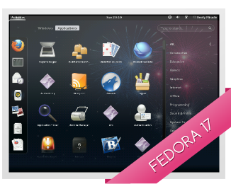 f17 fpo screenshot Fedora Project launches its beefiest release ever, version 17