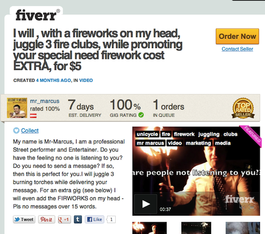 fiverr1 Fiverr helps get things done for as little as $5, raises $15m from Accel and Bessemer