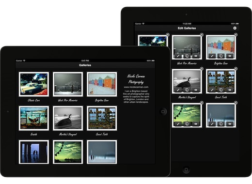 galleries screen Portfolio Pro for iPad: The perfect way to store and display your photo and video portfolios on the go