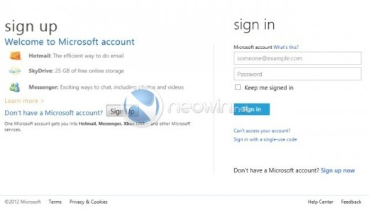 image1 520x300 Purported screenshots show off Microsoft Account user interface, Live rebranding