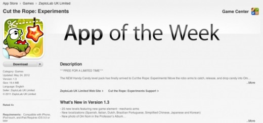 itunes app of thr week 520x244 Apple improves app discovery with Editors Choice and free App of the Week features