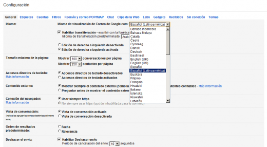 latinamericanspanishgoogle 520x286 Gmail will soon be available in Welsh and Latin American Spanish