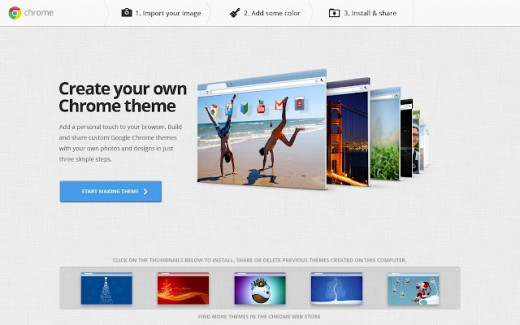 mychrome1 520x325 Google Chromes social theme tool is now available in 36 more languages