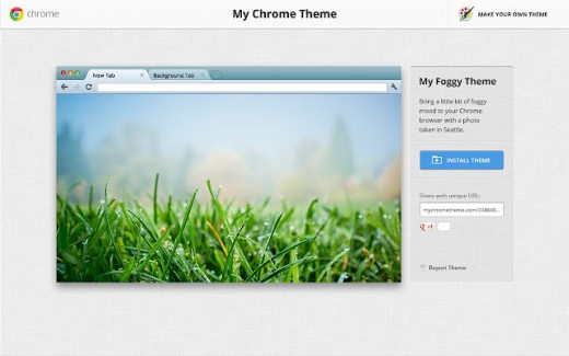 mychrome2 520x325 Google Chromes social theme tool is now available in 36 more languages