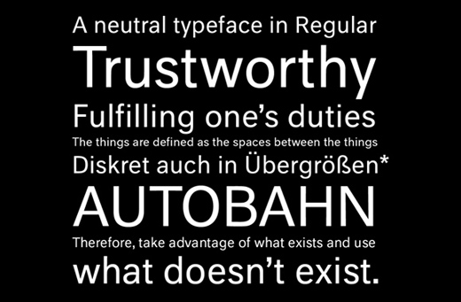 neutral 30 of The Best Alternatives to Helvetica