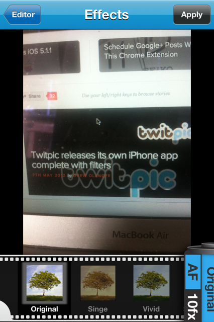 photo 1 2 Twitpic releases its own iPhone app complete with filters