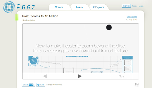 prezippt1 Prezi passes 10 million user mark and introduces handy PowerPoint import