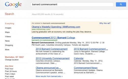romneygooglead0514 520x321 Romney using targeted Google ads to zing Obama around the net