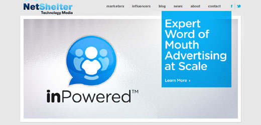 screencapinpower Netshelter launches inPowered Stories that earn money for influential tech bloggers