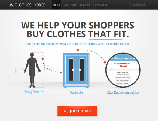 site screenshot 520x398 Clothes Horse is blazing the trail for the future of clothing that fits