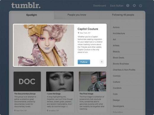 sponsors example spotlight 520x388 Tumblr jumps into advertising head first with Sponsor products