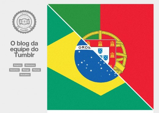 tumblr brasil 520x370 Tumblr is now available in Portuguese for Portugal and Brazil, its second largest community