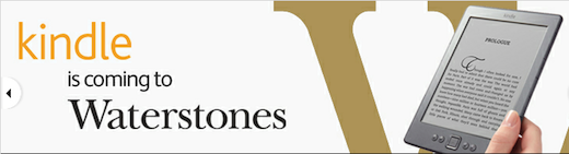 water UK bookseller Waterstones to carry Amazons Kindle, ditches plans for rival e reader
