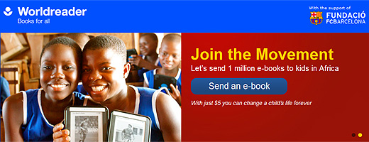worldreader1 Worldreader and FC Barcelona team up to send one million e books to sub Saharan Africa