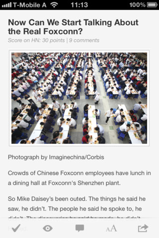 ysHiXbktMdJHrXamCZ8KRw temp upload.ffzsrvjb.320x480 75 This Hacker News iOS app is very reminiscent of Instapaper, and it rocks