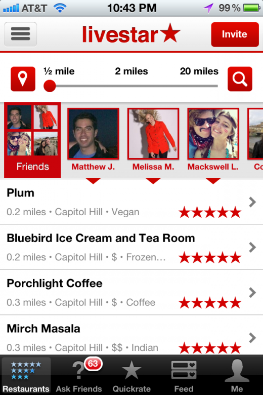 1. Browse and Search 520x780 Livestar launches to find you recommendations from people you trust, not strangers
