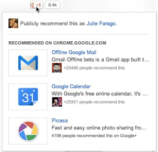 Googles +1 button will now deliver suggested content to readers of your site when hovered over