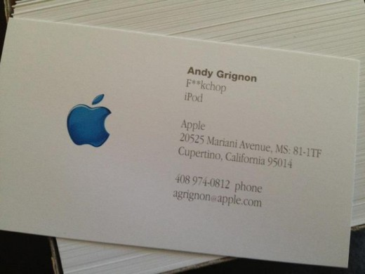 165422 10150905195693985 840412351 n 520x390 When Steve Jobs called this key Apple manager a fuckchop, he put it on his business cards