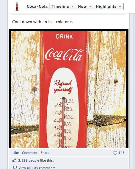 2 Coca Cola Now that follow us on Facebook has replaced the website for brands, what will be next?