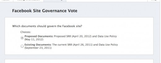 2 SRR Site Governance Vote on Facebook 520x206 Its time to vote on Facebooks Statement of Rights and Responsibilities and Data Use Policy