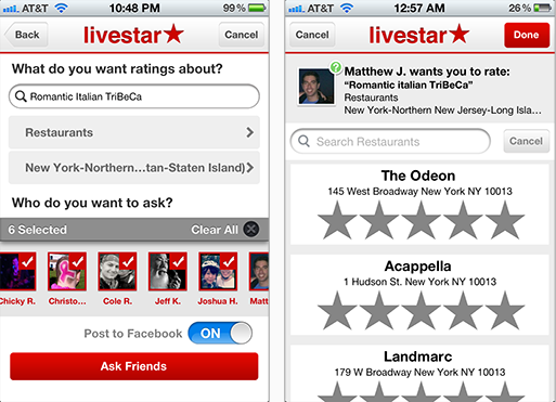 2. Ask a Question Livestar launches to find you recommendations from people you trust, not strangers