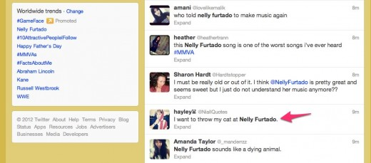 20 Twitter   Search  Nelly Furtado  520x229 Twitter has completely missed the mark with its Tailored Trends tweak