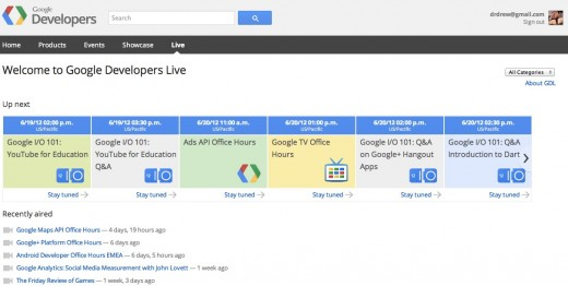 Convo 681 520x262 Google now offers support to developers during office hours with Developers Live