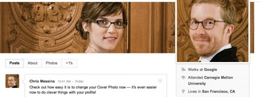 Convo 69 520x194 Google+ gets some updates on profile pages, including posting from your own