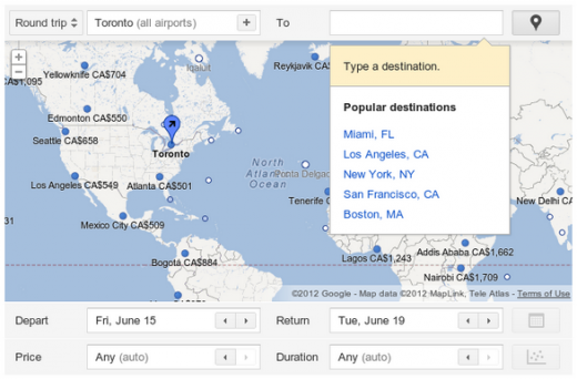 GEN 520x342 Google rolls out Flight Search for Canadian airports