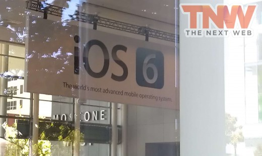 IMAG1626wtmk 520x310 Banners at Moscone confirm that iOS 6 is coming next week at WWDC