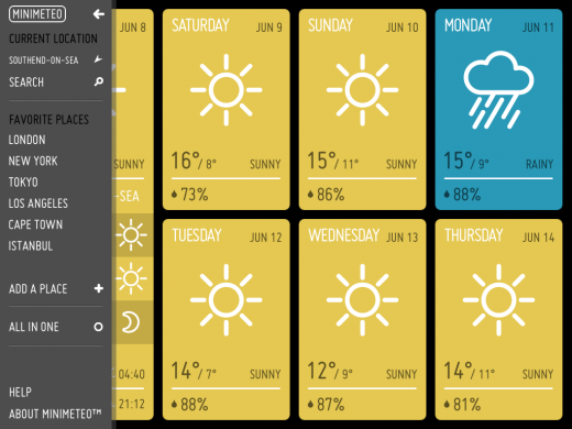 IMG 0088 520x390 Minimeteo: A really slick and minimal weather app for your iPad