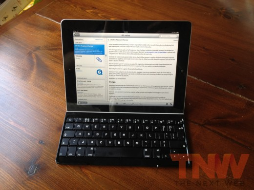 IMG 3129wtmk 520x390 TNW Review: Logitech Ultrathin Keyboard Cover for iPad