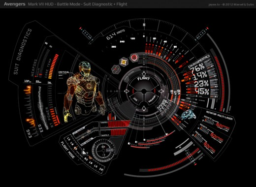 Iron Man Mark 7 diag battle jayse hansen 520x380 Jayse Hansen on creating UI for The Avengers, touch control, holograms, Galaga and Project Glass
