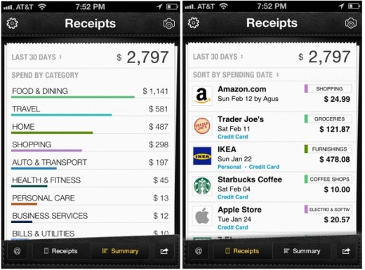 Lemon receipts view 520x385 Mobile money management startup Lemon raises $8 million to fund its Smarter Wallet