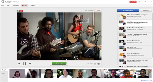 MIxerScreenshot framed 520x279 You can now build and share YouTube playlists with friends in Google+ Hangouts