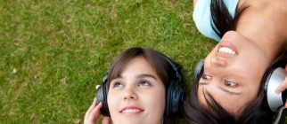 Women listening to music